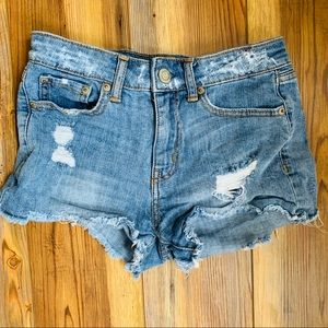 Aeropostale Distressed High Waisted Shorts Sz 0